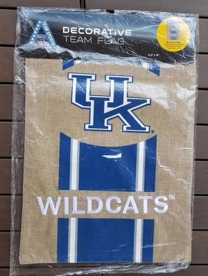 University Of Kentucky Decorative Team Garden Flag Burlap 2