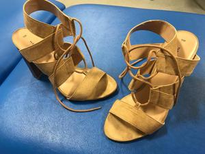 Women's New Look beige strappy shoes / sandals size 7 brand new