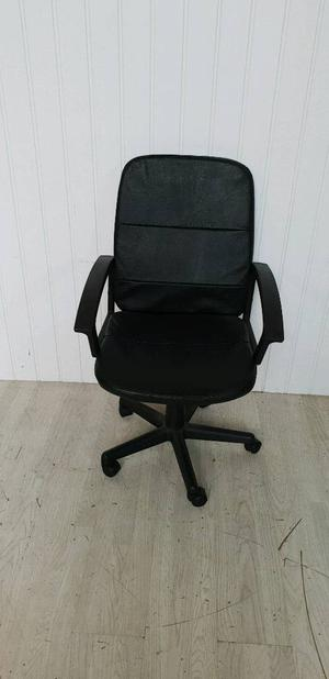 Black Faux Leather Computer Chair
