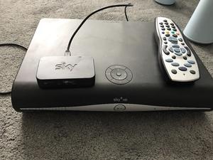 Sky +HD box and mini box set box with remote for sale