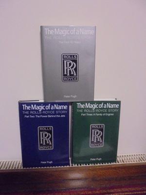 THE MAGIC OF ROLLS ROYCE BOOKS 3 VOLUMES
