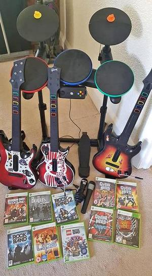 Xbox 360 / Xbox 360 games bundle / Xbox 360 Guitar Hero