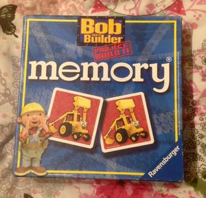 Bob the Builder 24 Card Ravensburger Memory Game. Complete And VGC.