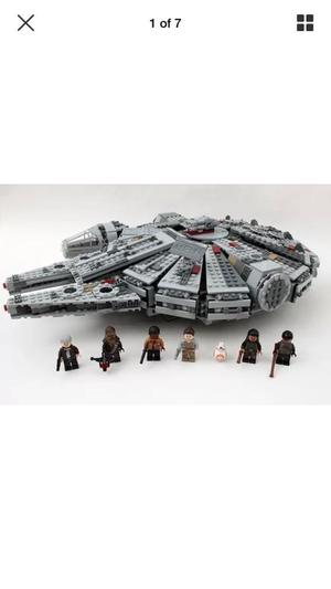Star Wars millennium falcon building blocks set