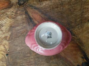 Sylvac  Autumn Leaves, no cracks or imperfections. Vintage perfect Maling Pink Lustre bowl