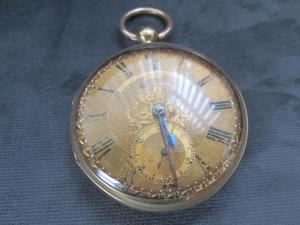 Thomas Russell 18 Carat gold antique pocket watch