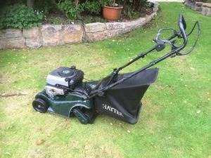 Hayter lawnmower. 41. Self propelled. With back roller.