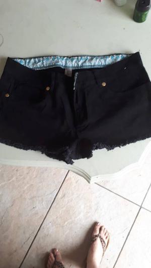 Ladies black denim shorts size 10