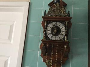 Antique Dutch wall clock 8day movement