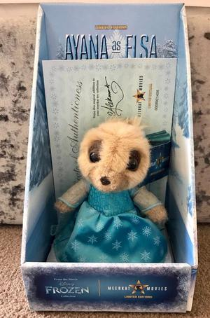 Limited Edition Ayna as Elsa from Frozen Meerkat Toy Collectable