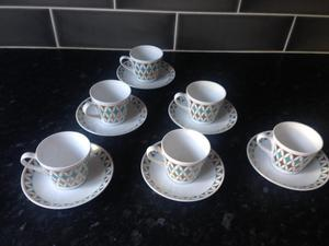 Vintage s Royal Tuscan cups and saucers