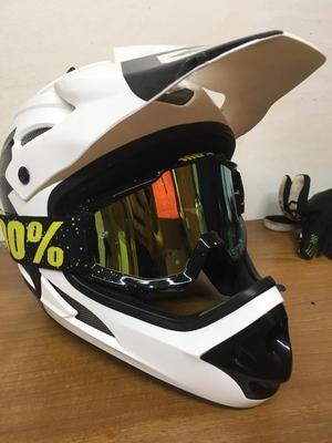 661 full face helmet and 100% goggles