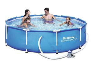 Bestway 10 Ft Steel Pro Frame Pool With 330 Gal Pump Fun