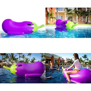 Inflatable Eggplant Pool Floats For Adults Swimming Pool 5