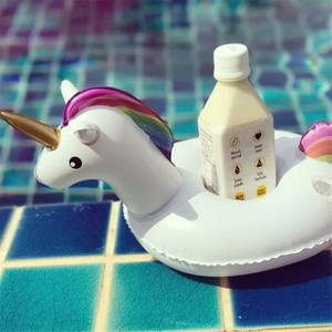 Unicorn Swimming Inflatable Floating Boat Drink Can Cup
