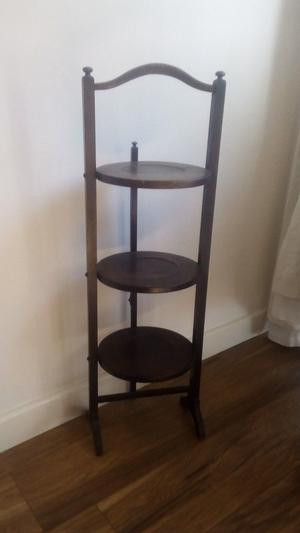 Vintage shabby chic wooden folding cake stand