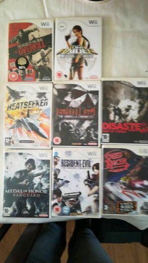8 Nintendo Wii games, including Resident evil