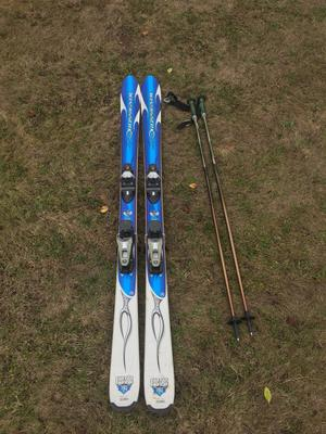 Rossignol B2 Bandit Skis and poles