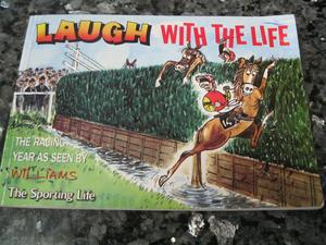 Sporting Life Horse Racing -Laugh With The Life Cartoon Book Illustrated by Williams From