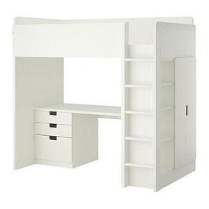 White IKEA kids cabin bed