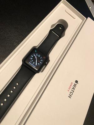 Apple Watch Series 3 (GPS + Cellular), 38mm Space Grey Aluminium Case with Black Sport Band