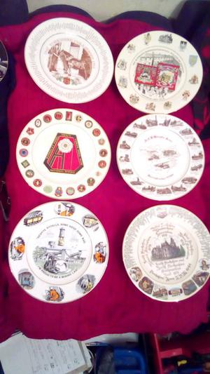 Collection of limited edition mining miners plates