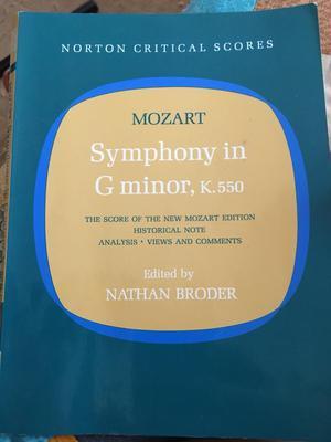 Mozart symphony in G minor k550 score