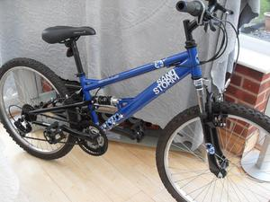 OLDER CHILDS APOLLO SANDSTORM FULL SUSPENSION MOUNTAIN BIKE IN VGC ONLY USED A FEW TIMES
