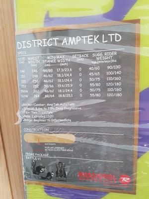 Rossignol District Amptek 155 Snowboard BRAND NEW