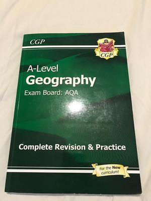 A level geography AQA new spec revision book