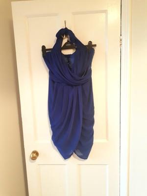 Blue party dress - size 12