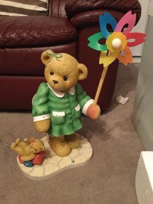 Cherished Teddy Girl / Pinwheel Large Figurine