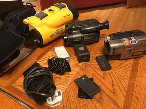 2 Sony camcorders and accessories
