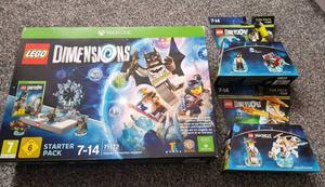 New xbox one lego dimentions starter pack / Ninjago fun pack / dc bane fun pack