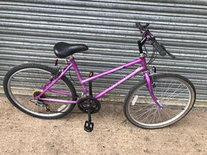 Raleigh Ladies Mountain Bike. Serviced, Good Condition. Free Lock, Lights, Delivery