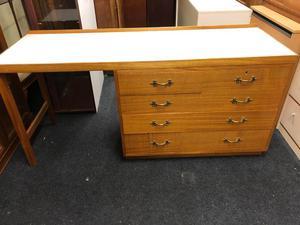 Vintage s teak wood military desk