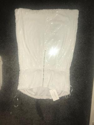 White glitter dress, with tags brand new