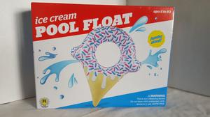 Pool Float Jumbo Sized Ice Cream Cone Pool Toy Inflatable