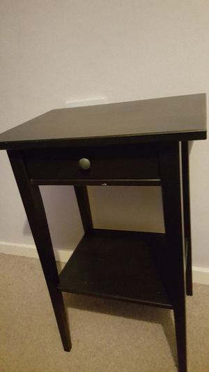 Ikea Hermes bedside tables black used x2 set