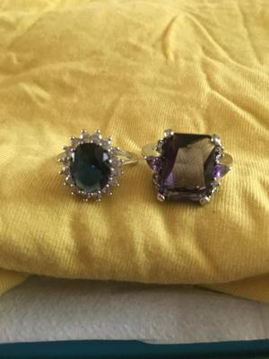 2 x fashion rings silver plated