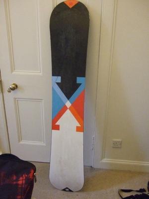 Burton Custom X 164 snowboard wide.