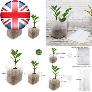 200 Pcs Non-woven Plant Seedling Bags Biodegradable Fabric