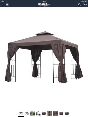 3m x 3m gazebo with side curtains