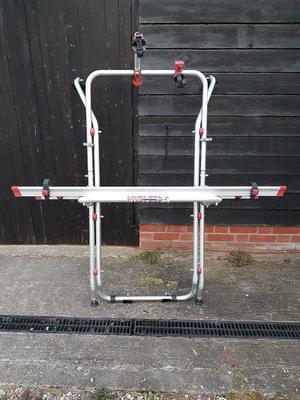 Bike rack for VW T5 Fiamma 2 bikes space for a third rail