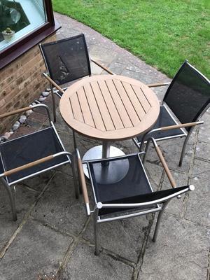 Garden Bistro table & 4 chairs