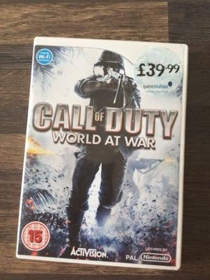 Nintendo Wii Call of Duty World at War Game.
