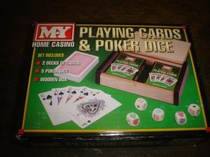 playing cards & poker dice set