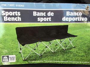4 seater foldable sports bench
