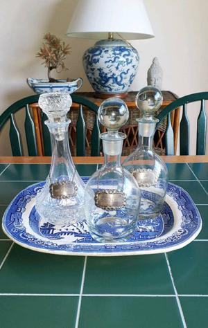 Antique drinks set soild silver