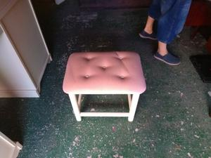 Free cream/white solid wood dressing table, stool and bedside tables